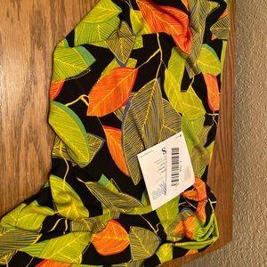 NWT small slinky Lularoe Maxi skirt green black